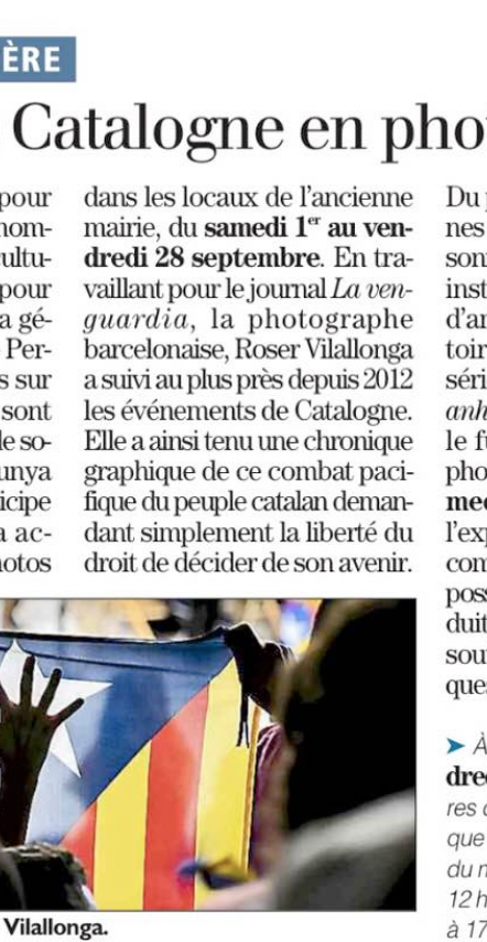 Article about the exhibition in Pézilla published in L'Indépendant